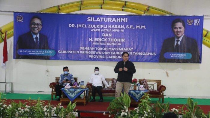 Sambangi Pringsewu, Erick Thohir Beberkan Beda Orang yang Divaksin dan Tidak