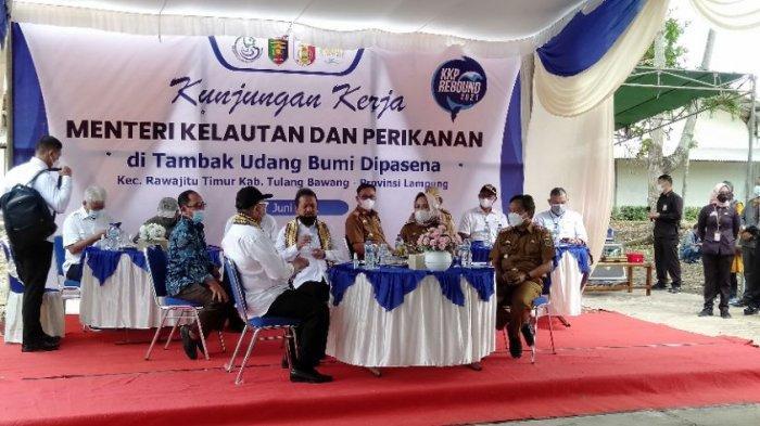 Kunjungi Tambak Udang Dipasena Tuba, Menteri KP: Penyelesaian Harus Ditangani Komprehensif