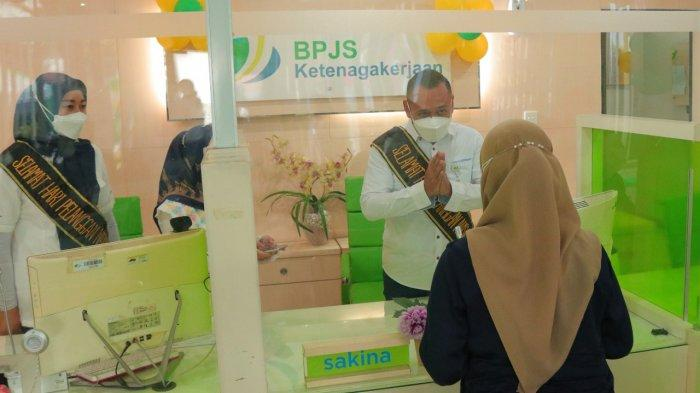 BPJamsostek Lampung Tengah Rayakan Hari Pelanggan Nasional dengan Protokol Kesehatan Ketat