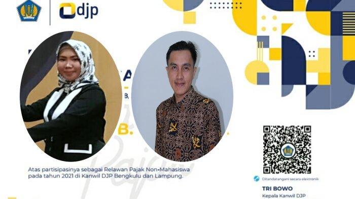 Dua Dosen Univesitas Muhammadiyah Metro Terima Penghargaan Relawan Pajak