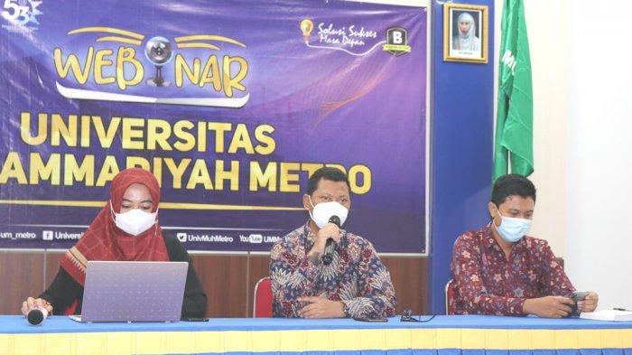 UM Metro Gelar Webinar Tips dan Tricks Meraih Beasiswa, Wakil Rektor III: Jangan Takut Kuliah