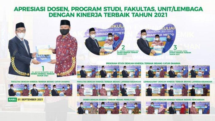 Universitas Terbaik di Sumatera UM Metro Umumkan Dosen, Prodi, Fakultas dan Unit Terbaik 2020/2021