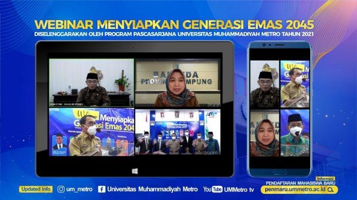 Kampus Terbaik di Sumatera UM Metro Gelar Webinar Hadirkan Menko PMK RI dan Pejabat Daerah