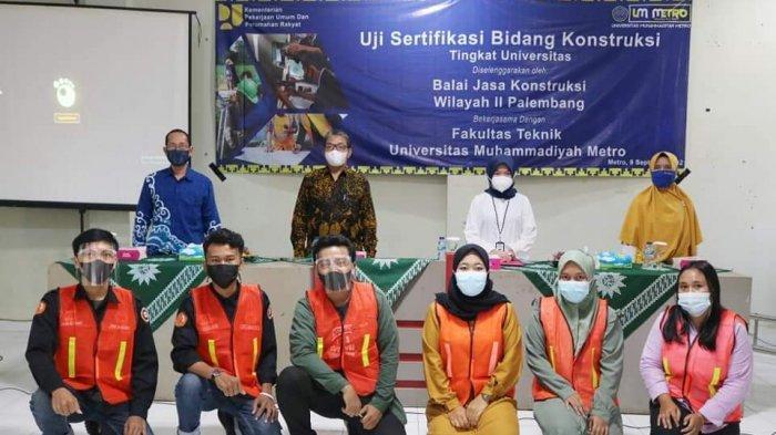 FT Universitas Terbaik di Sumatera UM Metro Gelar Uji Sertifikasi Kompetensi Bidang konstruksi