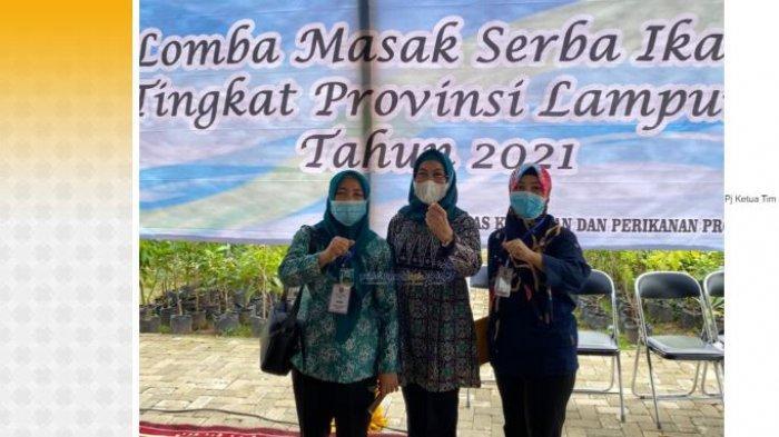 Mislaila Bambang Sumbogo Hadiri Lomba Masak Serba Ikan Tingkat Provinsi Lampung Tahun 2021
