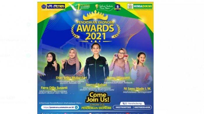 Pendidikan Ekonomi Award 2021 Meriahkan Milad HIMADIKMI UM Metro