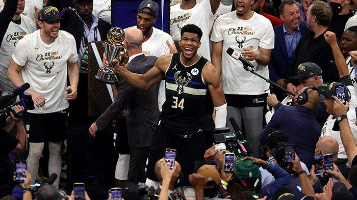 Milwaukee Bucks Juara NBA 2021, Giannis Antetokounmpo Cetak Rekor 50 Poin