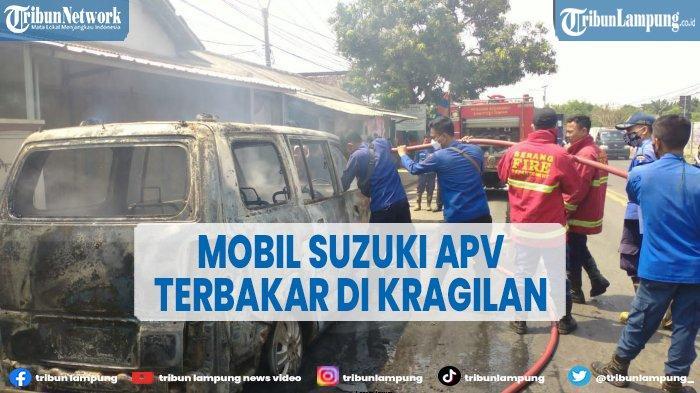 Suzuki APV Ludes Terbakar di Kampung Sentul, Kerugian Capai Puluhan Juta