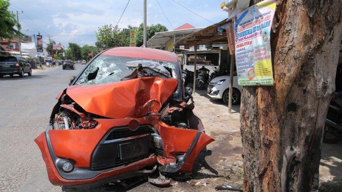Pasutri asal Tanjung Senang Kecelakaan Tunggal di Jalan Ratu Dibalau, Istri Meregang Nyawa