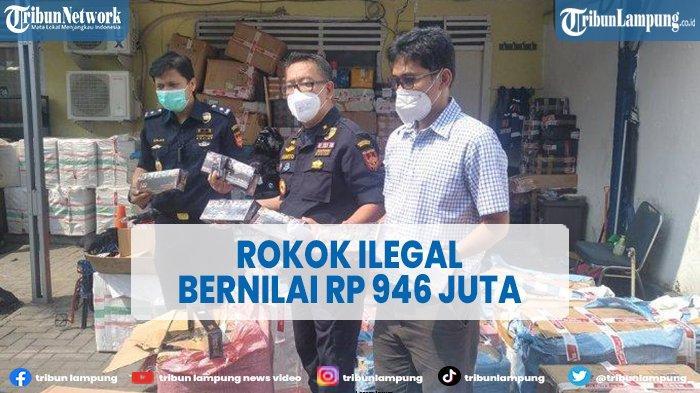 VIDEO Modus Kamuflase, Rokok Ilegal Diamankan di Lampung Selatan Bernilai Rp 946 Juta
