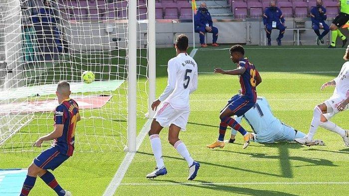Hasil Akhir Barcelona vs Real Madrid, El Clasico Dimenangkan Los Blancos