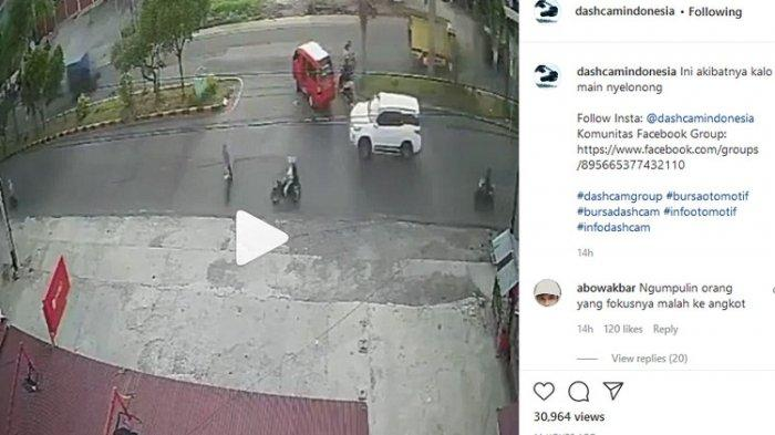 Viral Video Kecelakaan Horor, Motor Tabrakan di Jalur Putaran Balik