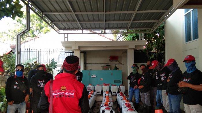 MTRH Lampung Semprot Disinfektan di Tiga Kelurahan Kecamatan Tanjung Senang