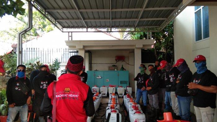 MTRH Lampung Semprot Disinfektan di Tiga Kelurahan Kecamatan Way Halim
