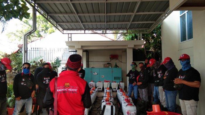 MTRH Lampung Semprot Disinfektan di Tiga Kelurahan Kecamatan Kemiling