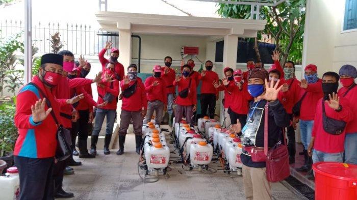 MTRH Lampung Semprot Disinfektan di Tiga Kelurahan Kecamatan TbU