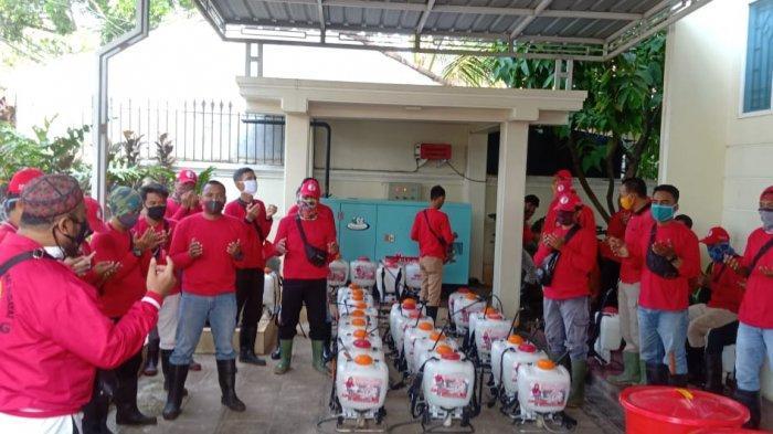 MTRH Lampung Semprot Disinfektan di Tiga Kelurahan Kecamatan Rajabasa