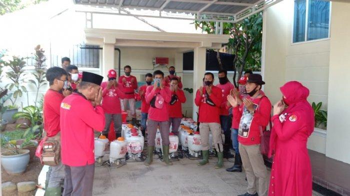 MTRH Lampung Semprot Disinfektan di Tiga Kelurahan Kecamatan Sukarame