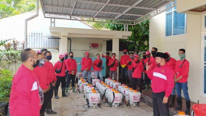 MTRH Lampung Semprot Disinfektan di 3 Keluharan Kecamatan TbB