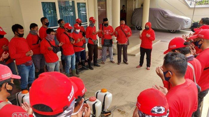 MTRH Lampung Semprot Disinfektan di 3 Kelurahan Kecamatan TbS