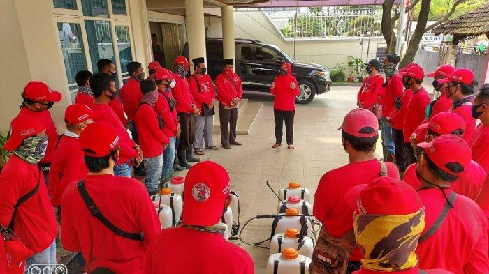 Kembali, MTRH Lampung Semprot Disinfektan di 3 Kelurahan Kecamatan TbS