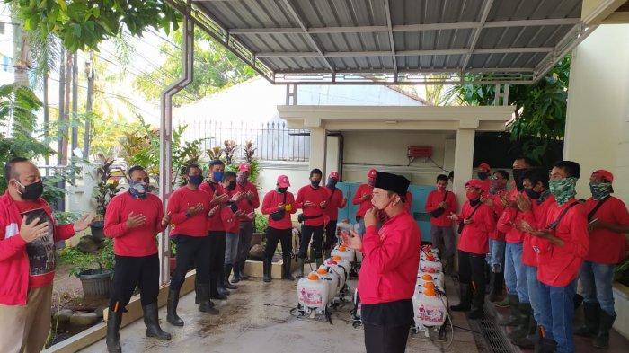 MTRH Lampung Semprot Disinfektan di Tiga Kelurahan Kecamatan TkT
