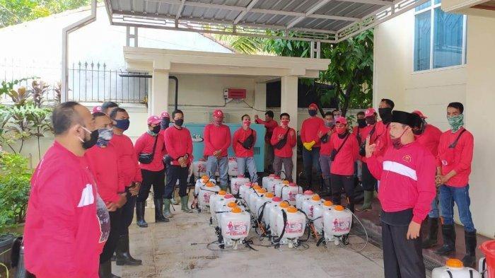 MTRH Lampung Semprot Disinfektan di Kecamatan Kedamaian