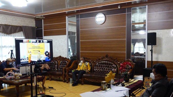 Musa Ahmad Paparkan Penanganan Covid-19 dan Peningkatan Ekonomi Lamteng ke Menteri Airlangga