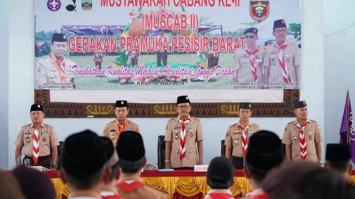 Agus Istiqlal Komitmen Tingkatkan Kualitas Prasarana pada Acara Musyawarah Cabang II Gerakan Pramuka