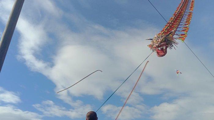 Cerita di Balik 'Naga' Terbang di Pringsewu Lampung, Panjang 113 Meter dan Berat 400 Kg