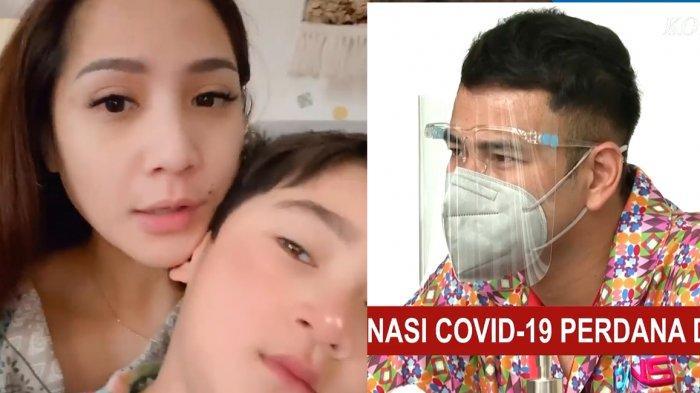 Raffi Ahmad Disuntik Vaksin Covid-19, Nagita Slavina dan Rafathar Tonton dari Rumah