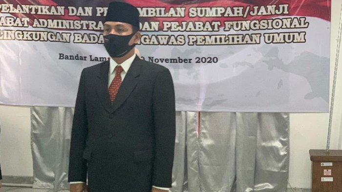 Nanang Sumarlin Resmi Jabat Kepala Sekretariat Bawaslu Pesawaran