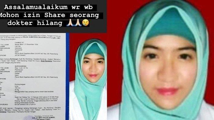 Nasib Dokter Muda Asal Palembang Dilaporkan Hilang di Lampung, Ayah Ungkap Isi SMS Terakhir
