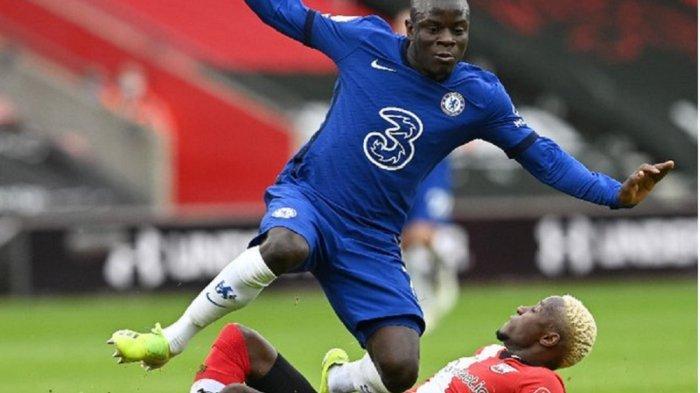 N'Golo Kante tampil mengesankan saat Chelsea bermain imbang 1-1 dengan Southampton