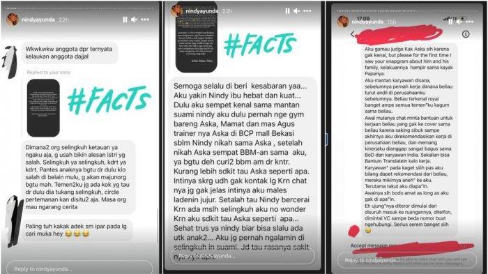 Ilustrasi unggahan Instagram Story Nindy Ayunda. Nindy Ayunda ungkap aib eks mertua, sebut berperilaku genit ke karyawan