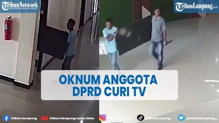 Terekam CCTV, Aksi Oknum Anggota DPRD Kabupaten Buru Diduga Curi TV