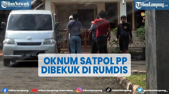 Polisi Amankan Oknum Satpol PP di Rumdin Sekkab Lampung Utara
