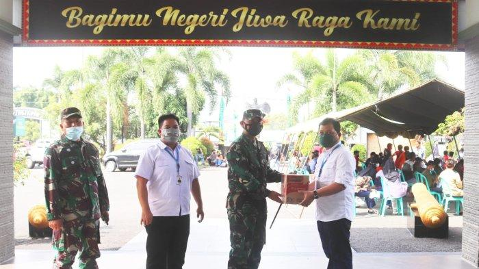 Dandim 0410 Terima Kunjungan Deputi Branch Manager Indomarco Cabang Lampung