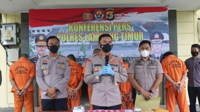 Polres Lampung Timur Tangkap 44 Tersangka, Termasuk 1 Perempuan