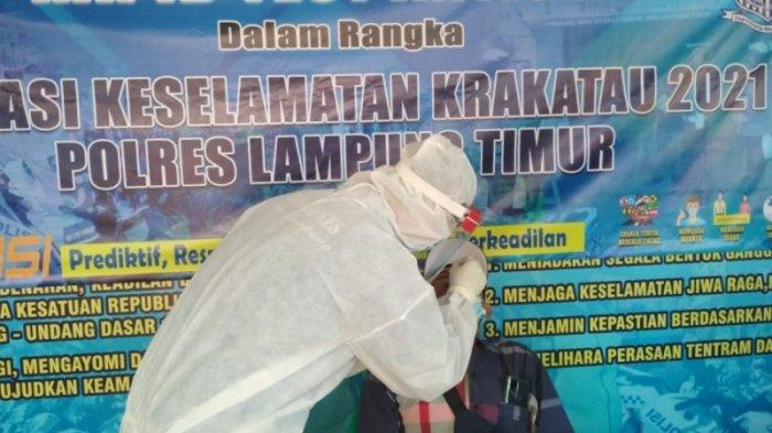 Operasi Keselamatan Krakatau 2021, Polres Lampung Timur Gelar Rapid Test Antigen Gratis