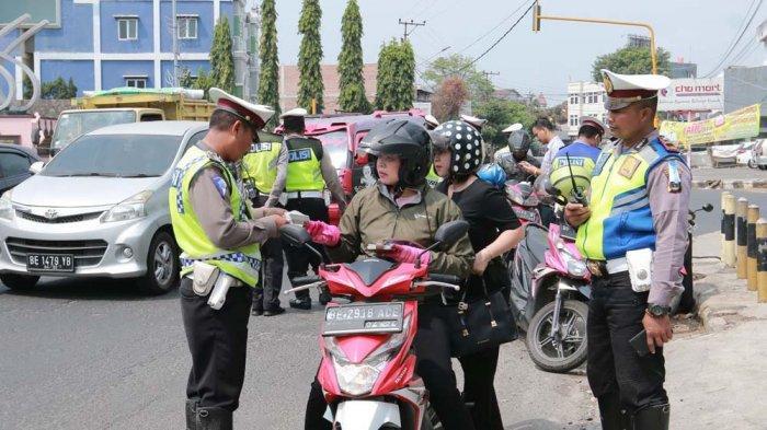 Ditlantas Polda Lampung Tindak 22.840 Pelanggar Lalu Lintas Selama Operasi Patuh Krakatau 2019