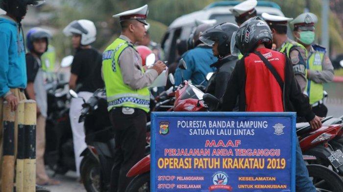 Operasi Patuh Karakatau 2019 di Lampung Selesai, Polda Lampung Tilang 25.379 Pelanggar