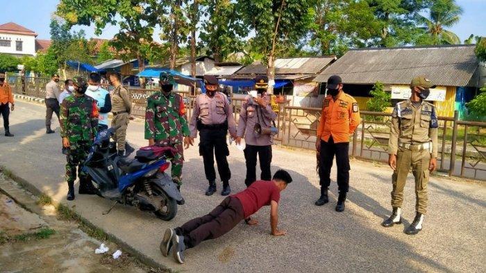 Operasi Yustisi, Polres Bersama Gugus Tugas Way Kanan Tertibkan Prokes di Lokasi Pasar