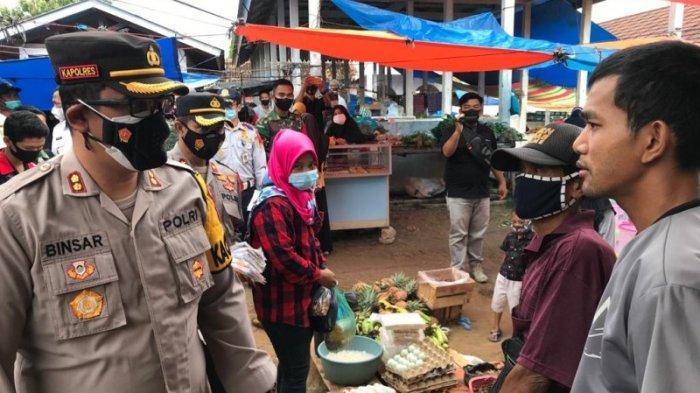 Operasi Yustisi, Polres Way Kanan Sidak di Pasar KM 2 Blambangan Umpu