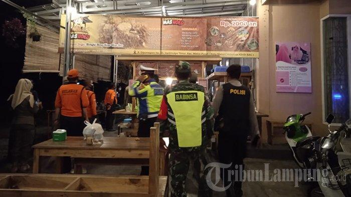 Operasi Yustisi PPKM Mikro Diperketat di Metro, Petugas Sudah Keluarkan 52 Sanksi