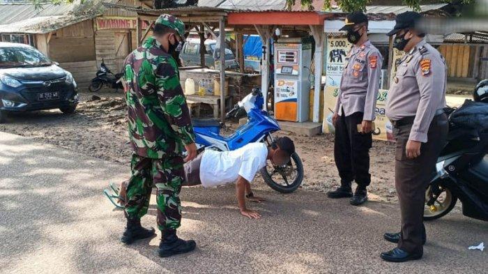 Operasi Yustisi, Polsek dan Koramil Pakuan Ratu Imbau Warga Patuhi Protokol Kesehatan