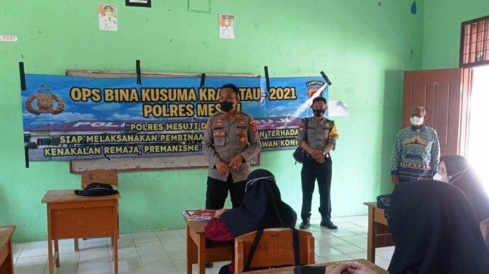 Polres Mesuji Lampung Sosialisasi Aturan Lalulintas dan Cegah Kenakalan Remaja ke Pelajar SMA