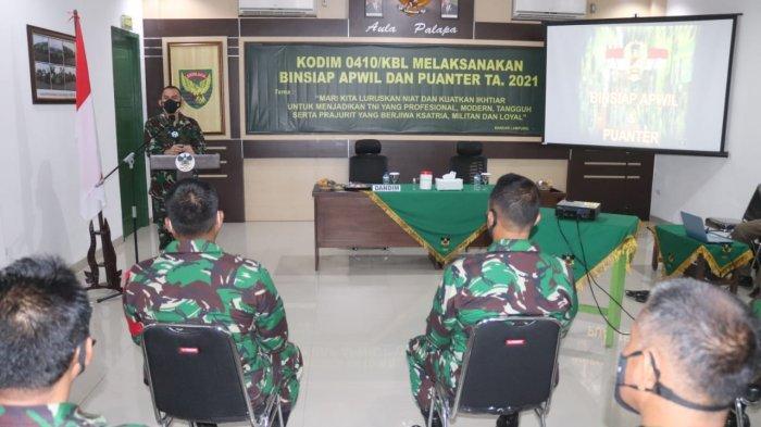 Dandim 0410/KBL Kolonel Inf Romas Herlandes Hadiri Kegiatan Kesiapandan Kemampuan Teritorial  2021