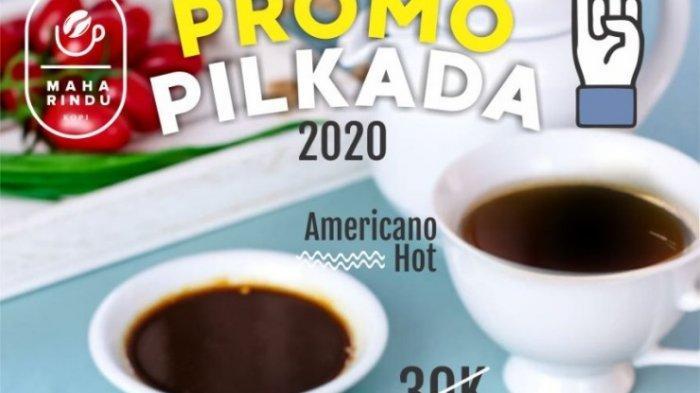 Promo Pilkada di Maha Rindu Kopi, Kopi Plus Cireng Cuma Rp 12.920, Cukup Tunjukkan Jari Bertinta