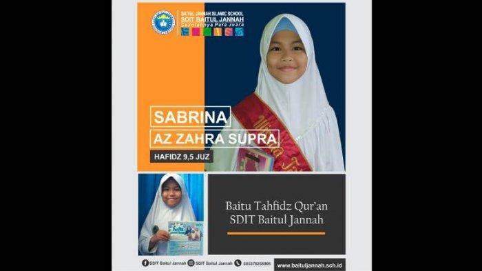 Pandemi Tak Menyurutkan Semangat Shasa Siswi SDIT Baitul Jannah Islamic School Menghafal Alquran